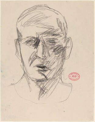 Untitled [head of a man: front view]
