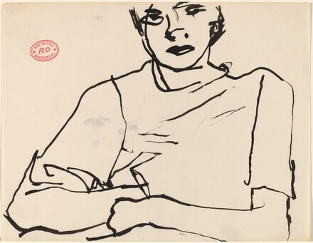 Untitled [figure in short-sleeved shirt]