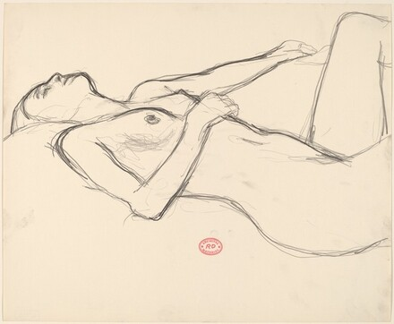 Untitled [nude reclining with her head back]