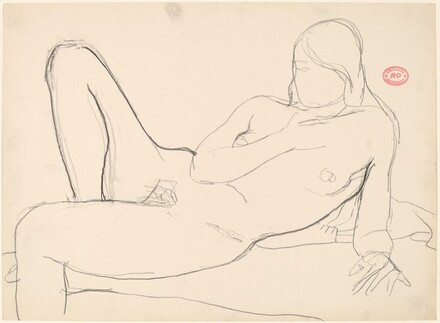 Untitled [female nude resting on her side]
