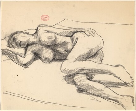Untitled [female nude lying on her side]