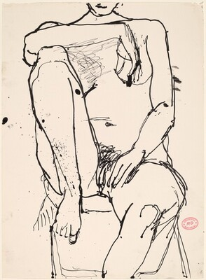 Untitled [seated nude with her right arm resting on right her knee]