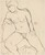 Untitled [seated nude looking to her right and down] [recto]