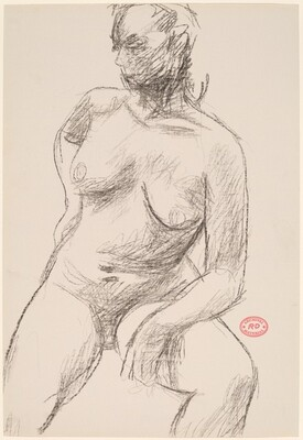 Untitled [nude turning and looking to her right]