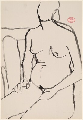 untitled [seated female nude with hands in lap]