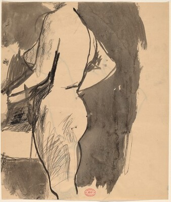 Untitled [side view of a female nude] [recto]