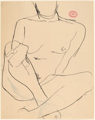 Untitled [nude with crossed legs and right hand on her knee]