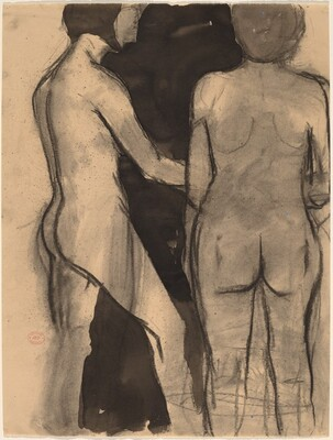 Untitled [two standing female nudes]