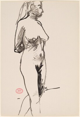 Untitled [standing female nude with arms behind]