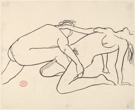Untitled [nude couple in a dramatic pose]