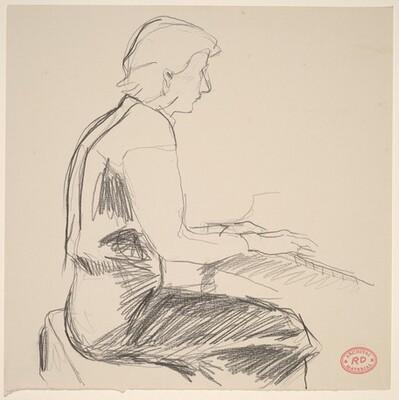 Untitled [figure playing piano]