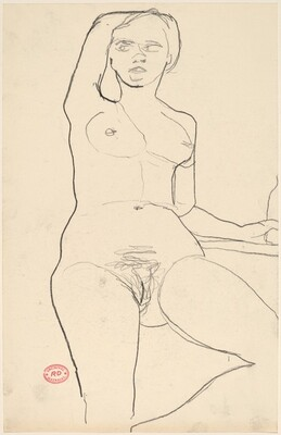Untitled [female nude with right arm behind head]