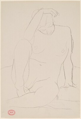 Untitled [seated nude resting]