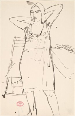 Untitled [woman standing in a negligee]