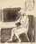 Untitled [woman seated at a table] [recto]