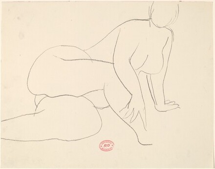Untitled [nude resting on her left side and leaning on her left hand]