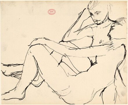 Untitled [two resting nudes]