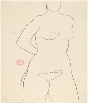 Untitled [nude with hand behind her back]