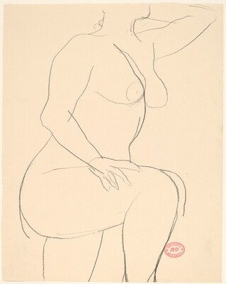 Untitled [nude with her left arm raised]