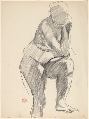 Untitled [standing nude with her left foot on a support]