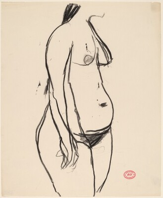Untitled [standing female figure turned to the right]