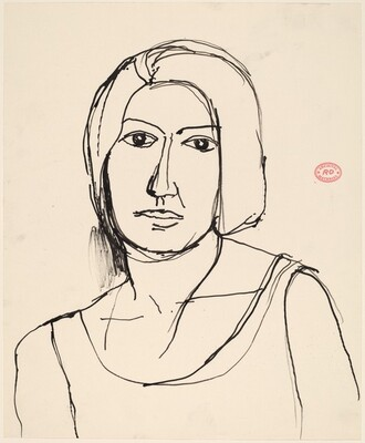 Untitled [head and shoulders of a woman]