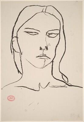 Untitled [female head]