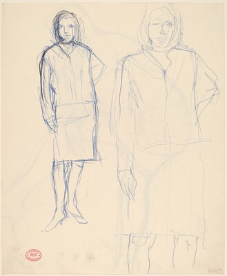 Untitled [two studies of a woman] [recto]