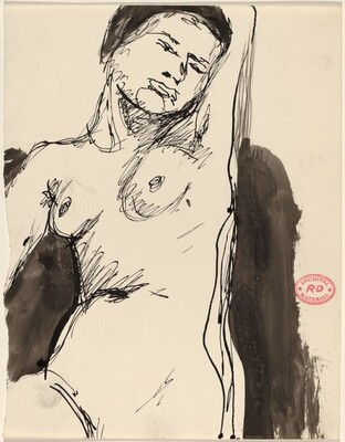 Untitled [nude with her right arm raised]