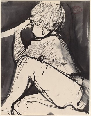 Untitled [seated model with an earring]