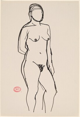 Untitled [standing nude with her right arm behind her back]