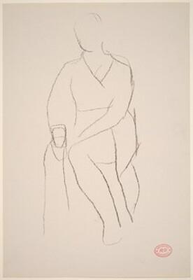 Untitled [seated female figure]