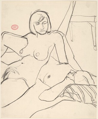 Untitled [two female nudes reclining together]