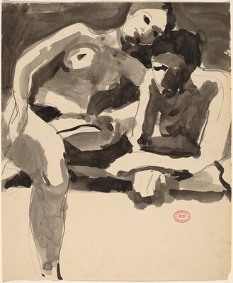 Untitled [two female nudes resting]