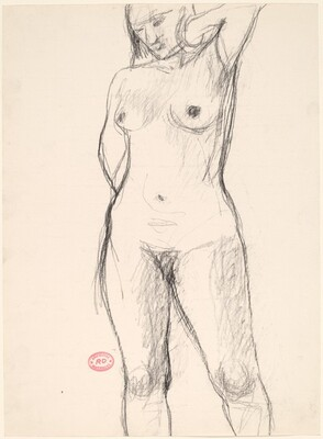 Untitled [standing nude with her left elbow raised]