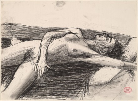 Untitled [reclining nude with her left arm above her head]