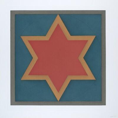Stars-Red Center: 6 Point