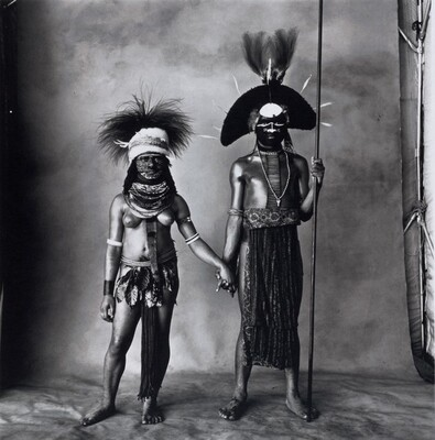 Young Enga Couple, New Guinea