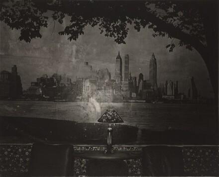 New York Skyline in a Lobby, N.Y.C.