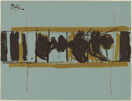 Untitled (Elegy Sketch for National Gallery Mural)