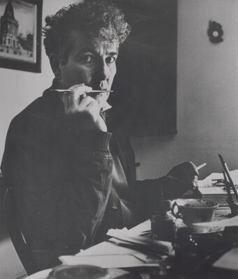 Robert Graves in his cottage at Churston, Devon