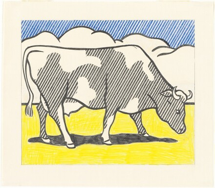 Study for left panel of  Cow Triptych (Cow Going Abstract)