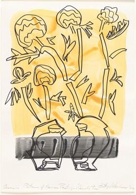 Ceramic Pictures of Korean Paintings: Camellia Tree