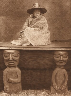 A Nakoaktok Chief's Daughter [Plate 334]