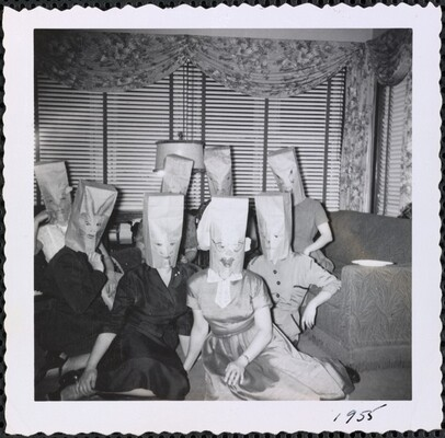 Untitled (Women with paper bags over heads)