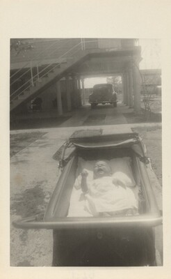Untitled (Baby crying in carriage)