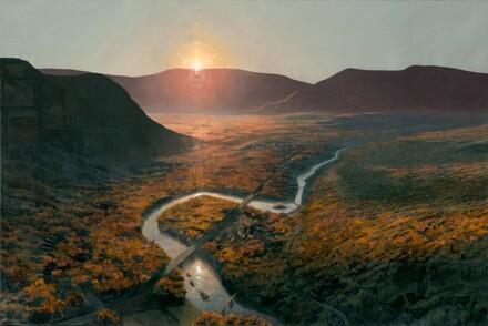 A Recent History of Art in Western Massachusetts; Flooded River for Lane Faison (Mass MoCA #12)