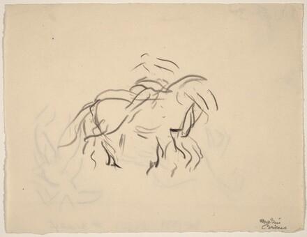 Movement, Circus Horse and Rider [recto]