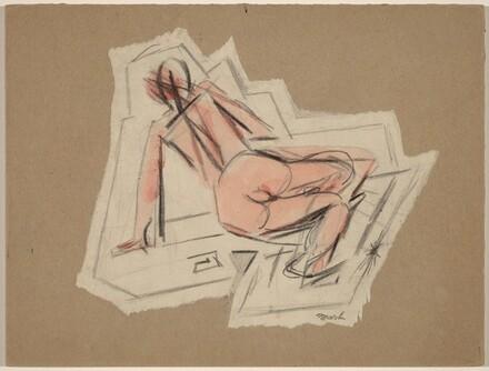 Leaning Female Nude Figure