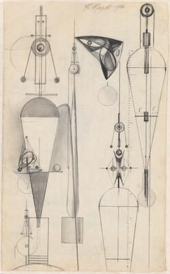 Studies for Constructivist Sculptures (recto)
